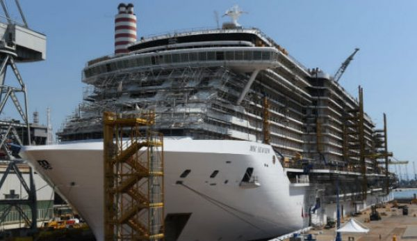 MSC Cruzeiros e FINCANTIERI celebram float out do MSC Seaview