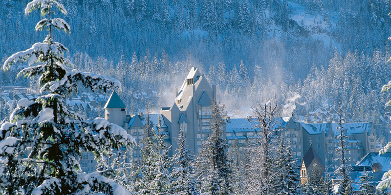 The Fairmont Chateau Whistler, a magia do Inverno